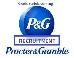 Procter & Gamble Nigeria Plant Internship Program